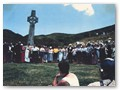 Re-enactment ceremony, 22 December 1989. Photograph by Paul Hansen of Waimate North.